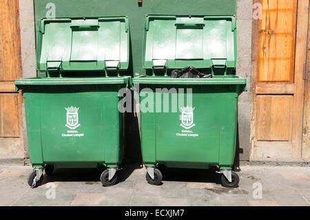 Gran Canaria - ecycling waste in Galdar. - Stock Photo