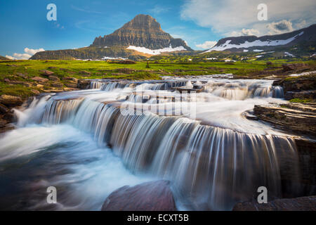 Logan Pass in Glacier National Park, located in the U.S. state of Montana. - Stock Photo