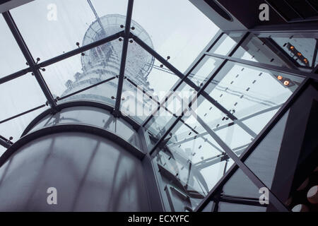 Heathrow airport's NATS Air Traffic Control tower, London, England. - Stock Photo