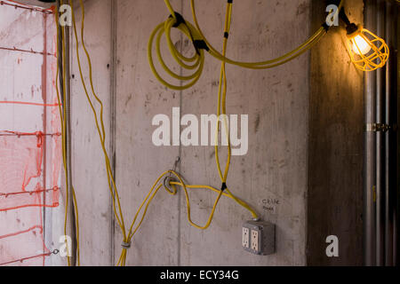 A temporary electrical power supply to a building site for Electrical wiring new construction