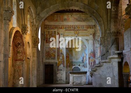 Basilica of Santa Maria Maggiore, Tuscania, Province of Viterbo, Lazio, Italy - Stock Photo