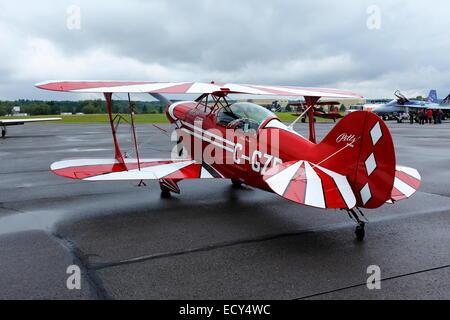 Aerobatic airplane, Bromont, Quebec Province, Canada - Stock Photo
