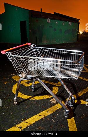 Abandoned Shopping Trolley - Stock Photo