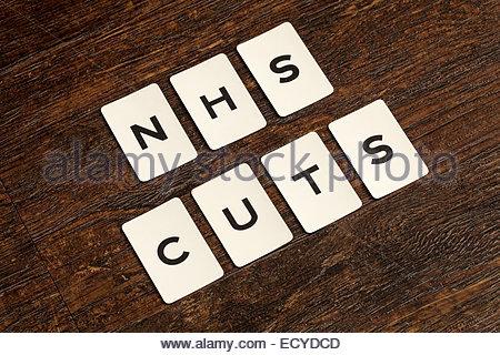 NHS Cuts - Stock Photo