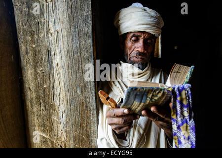 Priest of the Ethiopian orthodox church, Ethiopia - Stock Photo