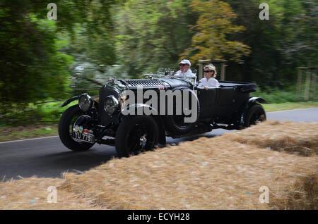 vintage Bentley racer at Classic Days 2014 at Dyck Castle near Düsseldorf, North Rhine Westphalia, Germany, Europe - Stock Photo