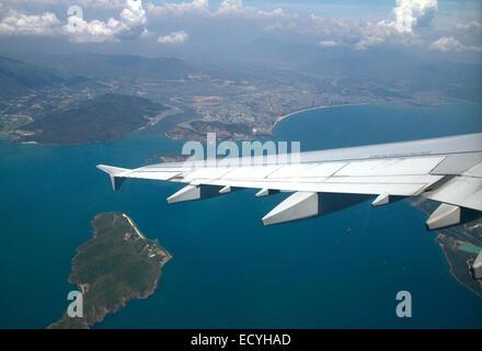 Aerial view of the South China Sea near Nha Trang, Vietnam. - Stock Photo