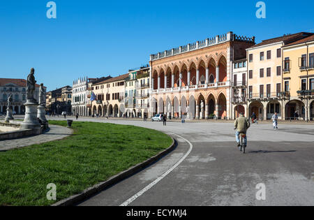 Italy, Veneto, Padua, the Prato Della Valle square - Stock Photo