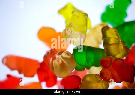 Cannabis Edibles, Gummy Bears - Stock Photo