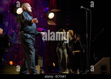 Milan Italy. 14th November 2014. The British rock and blues singer JOE COCKER performs live at PalaSharp - Stock Photo