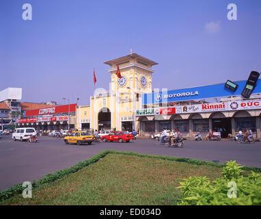 Market Entrance, Ben Thanh Market, Phan Bội Châu, Bến Thành, Ho Chi Minh City (Saigon), Socialist Republic of Vietnam - Stock Photo