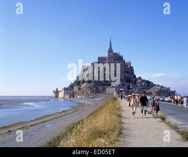 Le Mont Saint-Michel (Saint Michael's Mount), Manche, Lower Normandy Region, France - Stock Photo