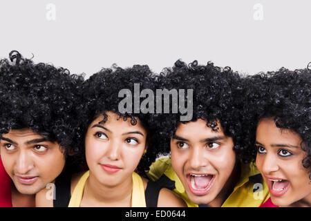 indian college Friends  fun - Stock Photo