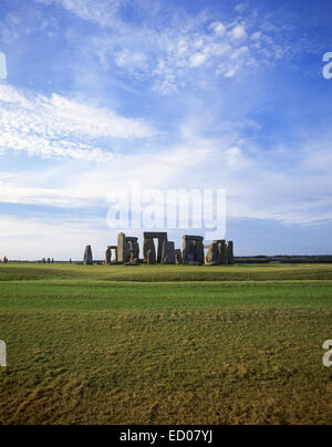 Stonehenge prehistoric monument, Amesbury, Wiltshire, England, United Kingdom - Stock Photo