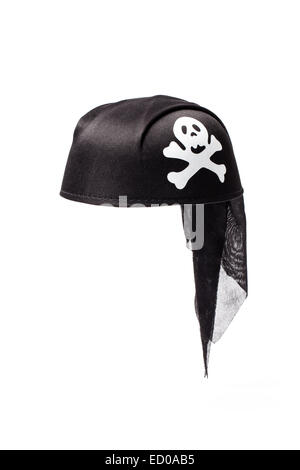 Image of a pirate hat isolated on white background. - Stock Photo