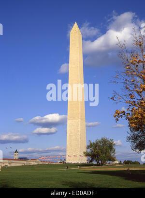 Washington Monument, National Mall, Washington DC, United States of America - Stock Photo