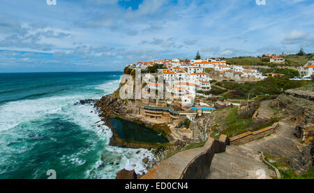 Portugal, Sintra, Azenhas do Mar - Stock Photo
