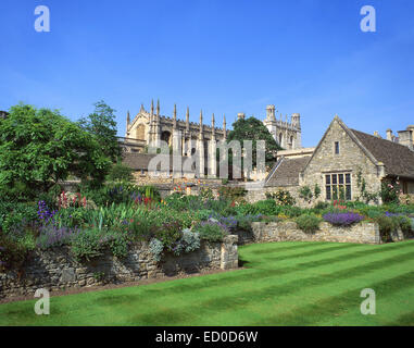 Christ Church College from War Memorial Gardens, Oxford, Oxfordshire, England, United Kingdom - Stock Photo