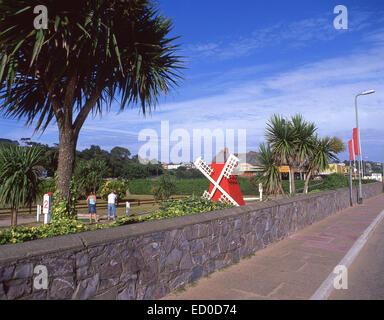 Miniature golf course at Seafront Leisure Centre, The Esplanade, Exmouth, Devon, England, United Kingdom - Stock Photo