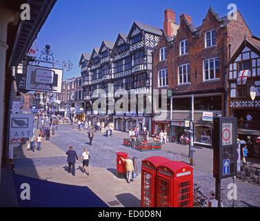 St Michaels Row, The Rows, Bridge Street, Chester, Cheshire, England, United Kingdom - Stock Photo