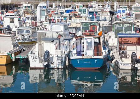 France, Nord, Dunkirk, boats in the marina - Stock Photo