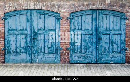 Heavy Old Doors - Stock Photo