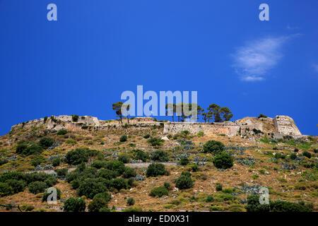 The castle of Aghios Georgios (Saint George), Kefalonia island, Ionian sea, Greece - Stock Photo