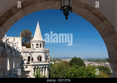 View from Castle District, Buda, Budapest, HUngary - Stock Photo