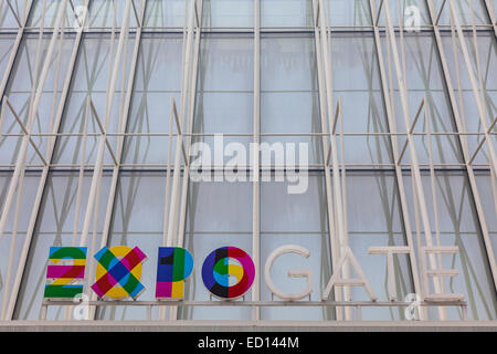 Temporary entrance structure for the Milan Expo 2015 - Stock Photo
