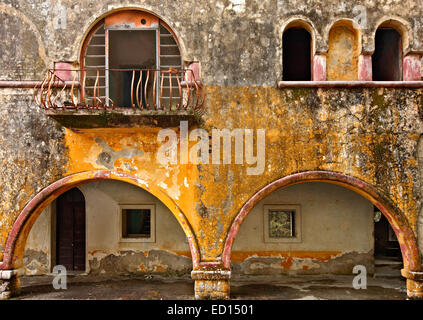 At the 'forgotten' village of Eleousa, known as one of the 'Italian' villages of Rhodes island, Dodecanese, Aegean - Stock Photo