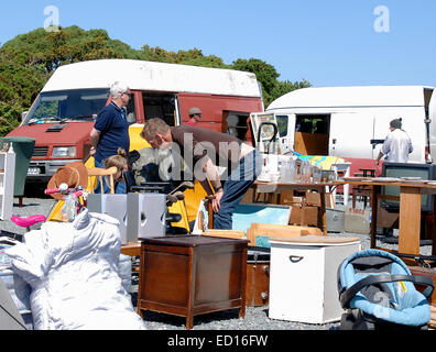 A Car Boot Sale In The U K Stock Photo Royalty Free Image