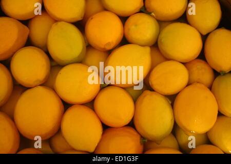 Fresh Lemons Sitting in Water