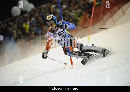 Madonna di Campiglio, Italy. 22nd Dec, 2014. Naoki Yuasa (JPN) Alpine Skiing : Audi FIS Alpine Ski World Cup Men's - Stock Photo