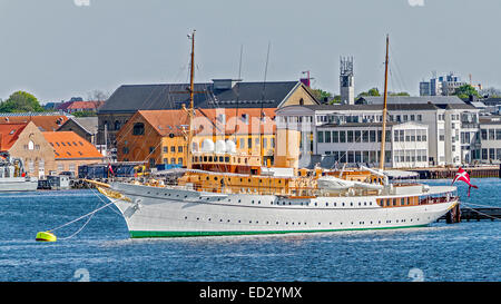 The Royal Yacht Dannebrog Copenhagen Denmark - Stock Photo