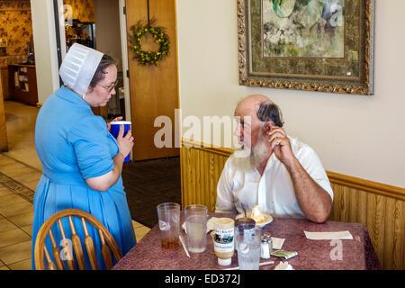 Illinois Arthur Yoder\'s Kitchen Amish restaurant inside menu Stock ...