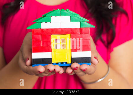 1 indian woman House showing - Stock Photo