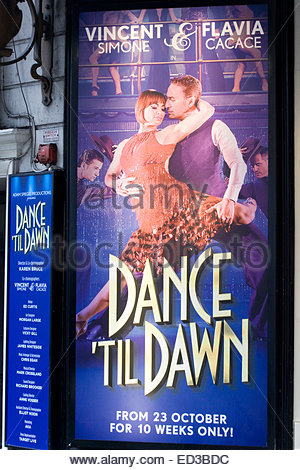 Poster Advertising the Dance Spectacular Starring Strictly's Vincent And Flavia Dance til Dawn - Stock Photo