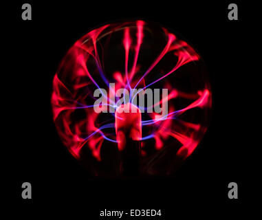 Electricity plasma ball - Stock Photo