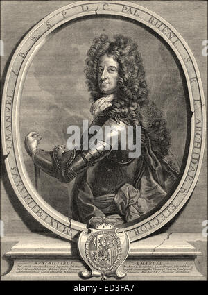 Maximilian II, 1662 - 1726, also known as Max Emanuel or Maximilian Emanuel, a Wittelsbach ruler of Bavaria and - Stock Photo