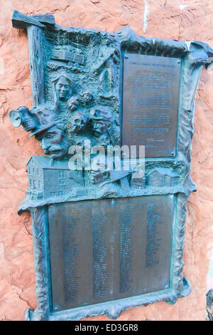 Castle Gate Mine Disaster, Utah, monument with names of the people killed at US 6 and 35 north of Helper, Utah in - Stock Photo