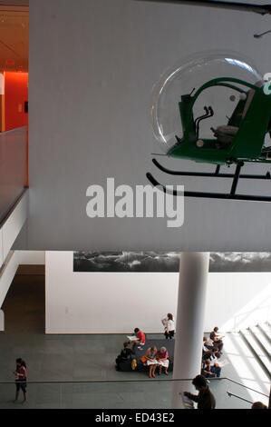 Manhattan, Midtown, Museum of Modern Art (MoMa), helicopter Bell 47D1. Manhattan. USA. The Museum of Modern Art - Stock Photo