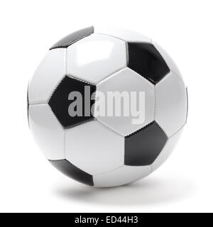 Photo of football ball isolated on white. - Stock Photo