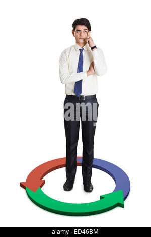 1 indian businessman standing - Stock Photo