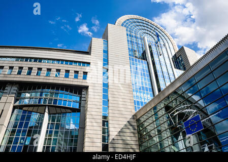 European Parliament in Brussels, Belgium, directly elected parliamentary institution of the European Union (EU). - Stock Photo