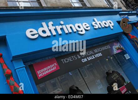 EdFringe office for Hogmanay and Fringe Events, Royal Mile, Edinburgh, Scotland, UK - Stock Photo
