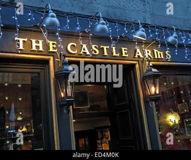 The Castle Arms Pub, Edinburgh, Scotland, UK - Stock Photo
