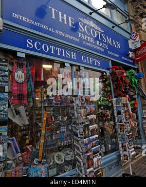 The Scotsman Paper Rack, Cockburn St Edinburgh, Scotland, Uk - Stock Photo