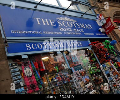 The Scotsman Paper Rack, Cockburn St Edinburgh, Scotland, Uk - Stock Photo
