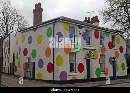 Hatherton House with spots Top-Marks building The Spotty Centre, Walsall, West Midlands, England, GB - Stock Photo