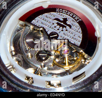 GOMEL, BELARUS - OCTOBER 30, 2014: J. HARRISON J.H-014DS wristwatch. J. HARRISON this Japanese watch company. - Stock Photo